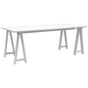 Ziro matbord 200 cm - Vit
