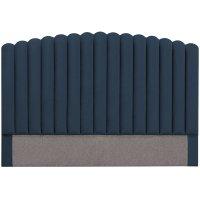 Bornholm sänggavel (Blå sammet) - Valfri bredd