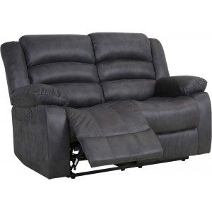 Elwin 2-sits reclinersoffa el - Grå