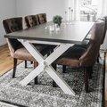 Nomi matbord med x-ben 180 cm - Vit/Grå