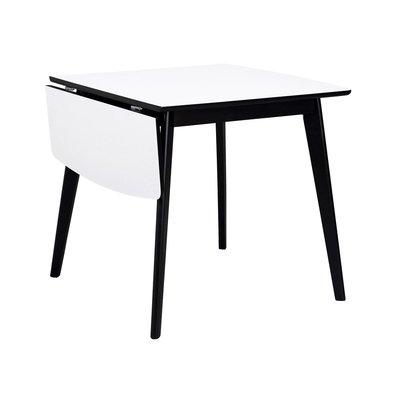 Orson klaffbord 80x80 - Vit/svart
