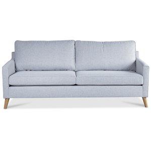 Blues 2-sits soffa - Ljusgrå / Ek