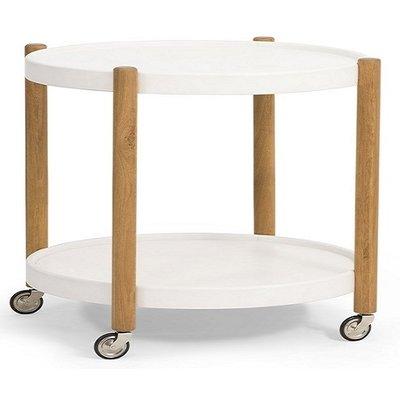 Sammy soffbord Ø80 cm - Vit/Ek
