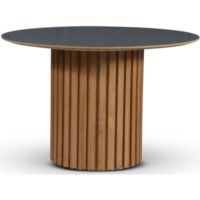 Sumo matbord Ø118 cm - Oljad ek / Perstorp mörkgrå virrvarr