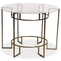 Prins soffbord 72 cm - Mässing/Glas