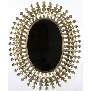 Spegel Jasmin Oval 70x85 cm - Old Gold