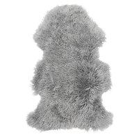 Frizzy långhårigt fårskinn - Ljusgrå