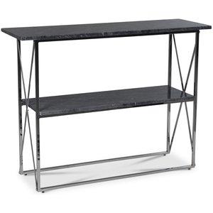 Paladium konsolbord - Krom / Grå marmor