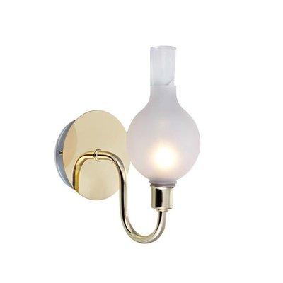 Liberty Vägglampa - Mässing/Frostat glas