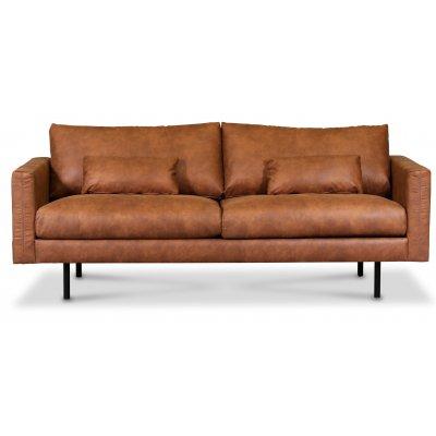 Landö 2,5-sits soffa - Cognac (Ecoläder)