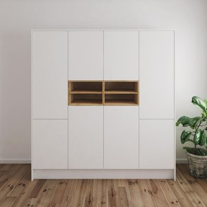 Sidsel garderob - Vit/ek