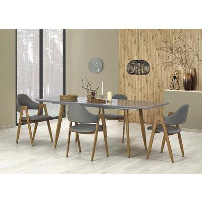 Birte matbord 160-200 cm - Grå/ek
