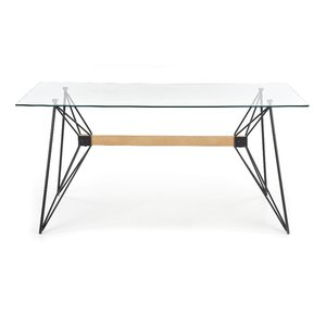 Ulrica matbord 160 cm - Glas/svart