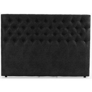 Sensation Sänggavel 180 cm - Svart Eco läder thumbnail