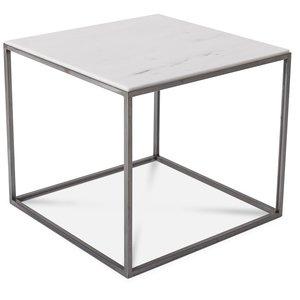 Carrera soffbord vit marmor fyrkantigt - Välj färg på underrede!