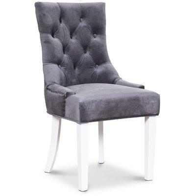 Tuva Decotique stol - Grå sammet