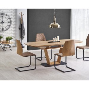 Hemming matbord 160-220cm - Svart/Ek