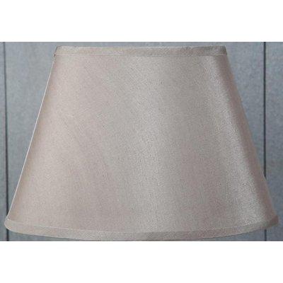 Siden oval lampskärm 25 cm - Beige