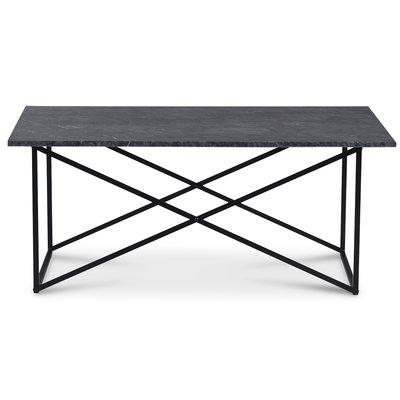 Paladium soffbord - Svart / Äkta grå marmor
