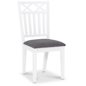 Herrgård Wilmer matstol - Vit / Grå