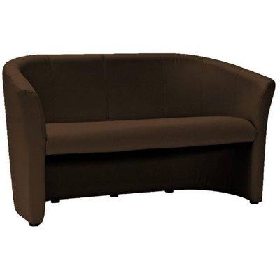 Charity 3-sits soffa - Mörkbrun (PU)
