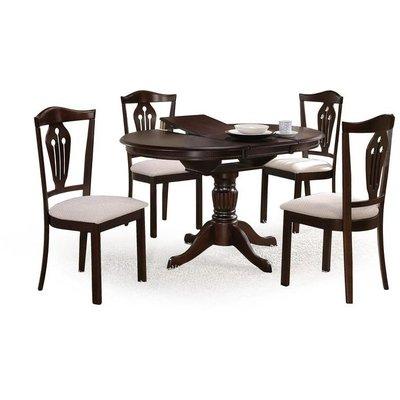 Dana runt matbord förlängningsbart - Mörk valnöt