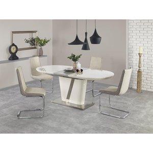 Hattie matbord 160-200 cm - Krämvit/grå