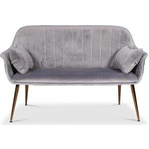 Flappy 2-sits soffa - Grå sammet / mässingsben