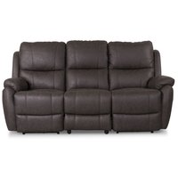 Enjoy Hollywood El-Recliner 3-sits - Brunt microfibertyg