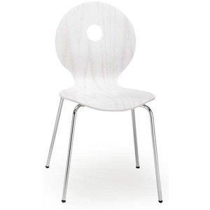 Stol Anitta - Vit/krom