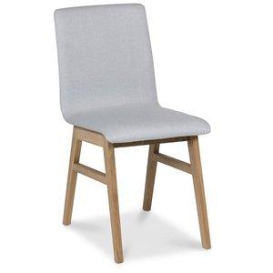 Molly stol - Ljusgrå/Oljad ek