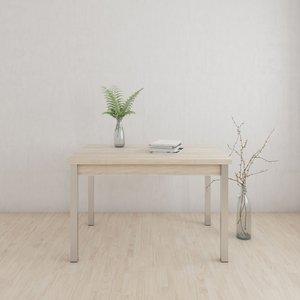 Luke matbord 120-147 cm - Vit/Whitewash ek