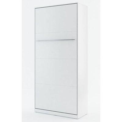 Sängskåp compact living Vertikalt (90x200 cm fällbar säng) - Vit (Matt)
