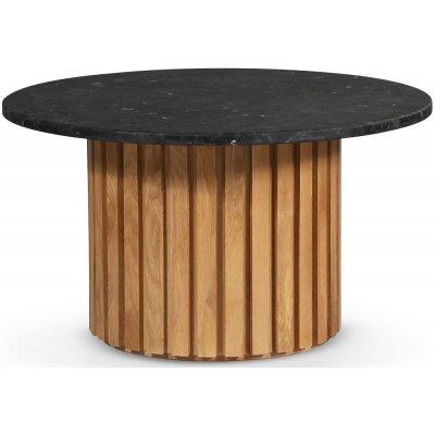Sumo Soffbord Ø85 - Ek / Svart Granit