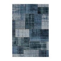 Patchwork-matta Stracciatella - Jeans/Blå