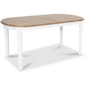 Ramnäs ovalt matbord 160 cm-200 - Vit/ekbets