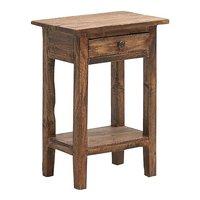 Clara sängbord - Rustikt trä