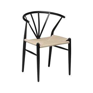 Delta stol - Svart / rotting
