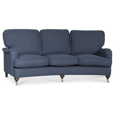 Howard Watford deluxe 4-sits svängd soffa - Navyblå