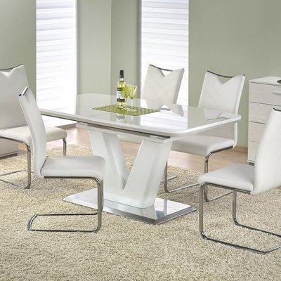 Annelise matbord 160-220 cm - Vit högglans