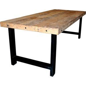 Älvsborg matbord 221 cm - Återvunnet trä/metall