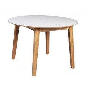 Katelyn runt matbord ø110 cm - Vit/ek