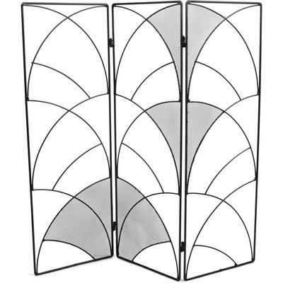 Fönsterskydd skärmvägg - Svart/grå