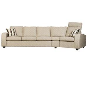 Rina svängd 4-sits soffa - Valfri färg!