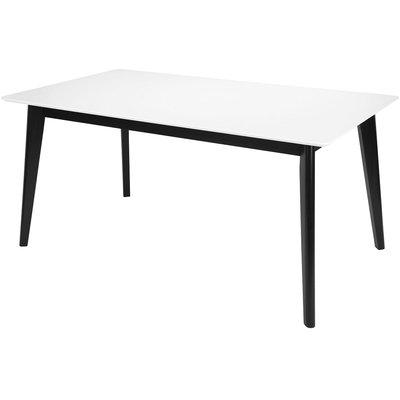 Century matbord 160 cm - Vit/Svart (HPL)
