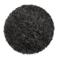 Curly stolsdyna fårskinn - Mörkgrå