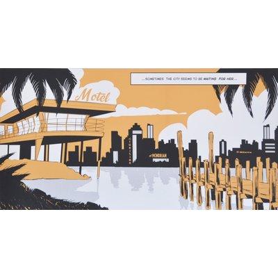 Comic 2 Tavla 120x60 cm - (City)