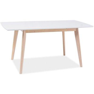 Matbord Elaina 120-160 cm - Vit/ek