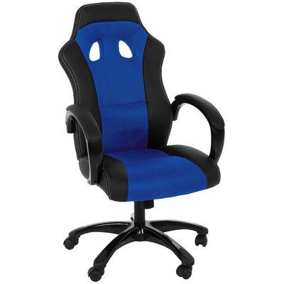 Gamingstol F430 skrivbordsstol - Blå/svart