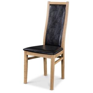 Särö matstol - Oljad Ek / Svart konstläder